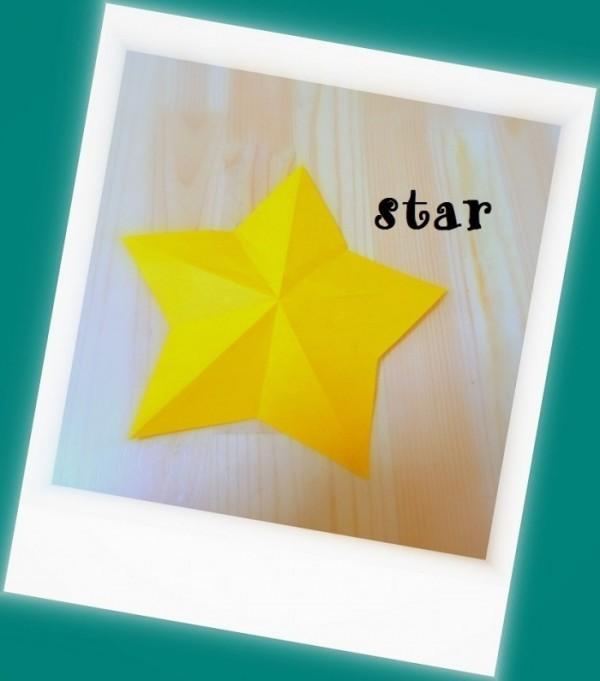 折り紙 星 七夕飾り