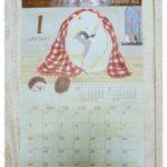 セリアのほっこりイラストの壁掛けカレンダーのご紹介♪