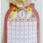 セリアの鳥かごカレンダーのご紹介♪