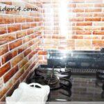セリアのキッチン用壁汚れ防止シートでコンロ周りをイメチェン♪