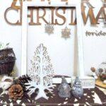 ホワイトクリスマス♪ウッドクラフトツリーとフレーム&オーナメントを手軽にアンティーク塗り♪その1