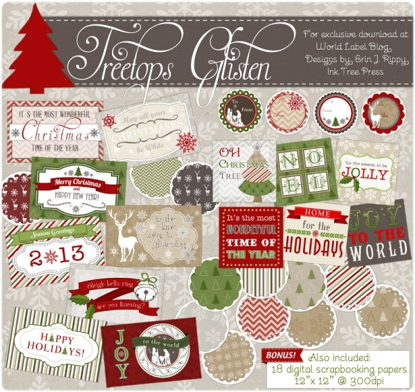 AChristmas-label-templates