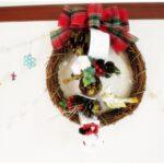 フラワーアレンジメント教室でクリスマスリース作り♪