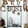 ホワイトクリスマス♪ウッドクラフトツリーとフレーム&オーナメントを手軽にアンティーク塗り♪その2