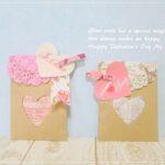バレンタインやホワイトデーのラッピングにも♪セリアのクラフト紙で作る封筒の作り方♪