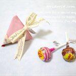 折り紙で作るテトラ型ラッピングの検証と、ダイソーのお菓子♪