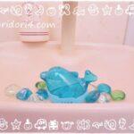 子どもが喜ぶセリアの可愛いトイレ洗浄剤とガラスオブジェでちょっと夏仕様に☆男子のトイレ汚れの悩み解決法!?
