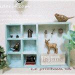 セリアのパーテーショントレイで簡単な飾り棚を作りましょ♪