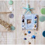 セリアの水性ペイントやかまぼこ板・貝殻を使って♪夏休み工作にもぴったりなシャビーな壁飾りの作り方。